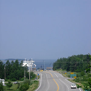 Nova Scotia Highway 106 - The northern terminus of Highway 106 at the Northumberland Ferries terminal in Caribou
