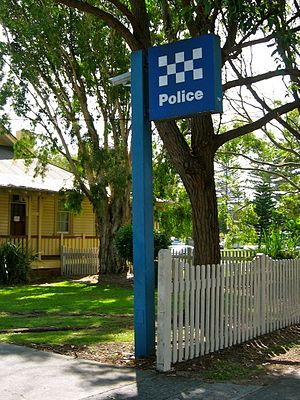 New South Wales Police Force - A police station standard.