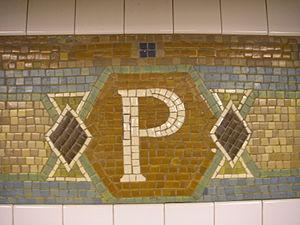 34th Street–Penn Station (IRT Broadway–Seventh Avenue Line) - Trim line tablets