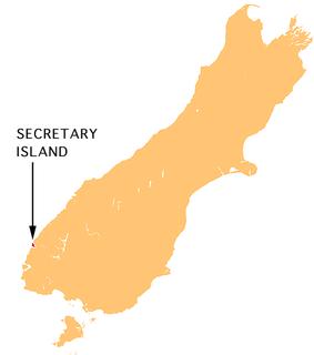 Secretary Island island in southwestern New Zealand