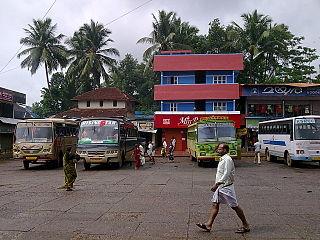 Nadapuram Town in Kerala, India
