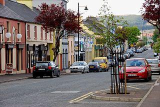 Glenties Village in Ulster, Ireland