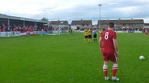 Brora Rangers F.C. - Brora playing Nairn County in the 2013–14 North of Scotland Cup final