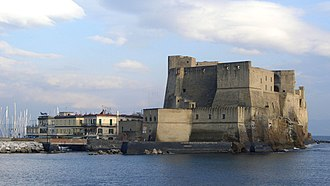 Castel dell'Ovo - The castle seen from the west