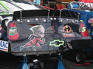 Adesivi del film, posti su un'auto del campionato NASCAR