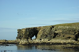Natural arch at northern point of Holm of Faray