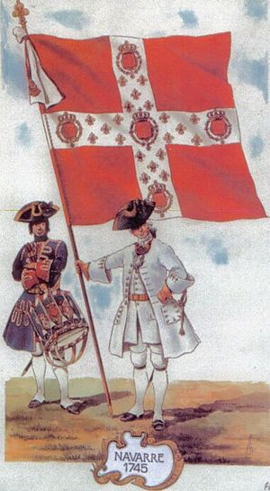 Ensign - The ensign of the French régiment de Navarre, 1745.