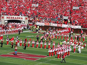 2010 Nebraska Cornhuskers football team - Remembering 9/11 during the tunnel walk