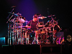 Neil Peart and his 360 degree drumkit