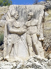 Nemrut Dag area A Commagene carving.jpg
