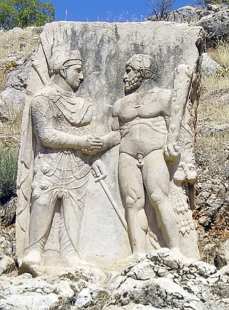 Kingdom of Commagene - Antiochus I of Commagene, shaking hands with Herakles.