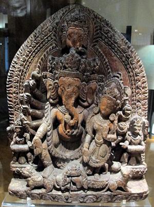 Heramba - Heramba with consort, 18th-century Nepal