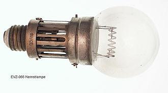 Nernst lamp - Image: Nernst lamp 2