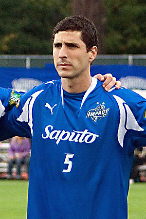 Montreal Impact (1992–2011) - Final club captain Nevio Pizzolito (2008 image) in Impact colours.