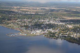 Temiskaming Shores - Image: New Liskeard aerial
