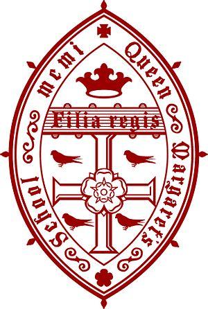 Queen Margaret's School, York - Image: New QM crest (darker)red
