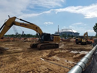 Globe Life Field - Construction site in 2017