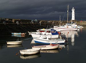Newhaven, Edinburgh - Newhaven harbour in overcast sunlight