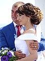 Newlyweds at Rotunda of Peoples' Friendship - Poltava - Ukraine (42920308045).jpg