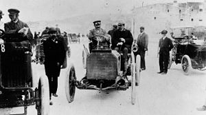 Albert Lemaître - Albert Lemaître with a 40 hp Mercedes Simplex at 1902 Nice–La Turbie mountain race