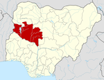 Map of Nigeria highlighting Niger State