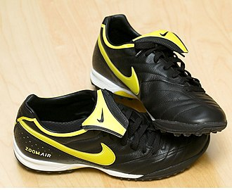 Kit (association football) - Modern turf shoes, which are designed to be used on hard artificial turf or sand.