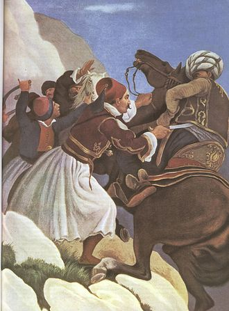 Expedition of Dramali - Nikitas Stamatelopoulos during the Battle of Dervenakia by Peter von Hess.