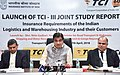 "Nitin Gadkari addressing at the launch of the Joint study report on ""Insurance Requirements of the Indian Logistics & Warehousing Industry and their Customers"" by the Transport Corporation of India Ltd. and Insurance.JPG"