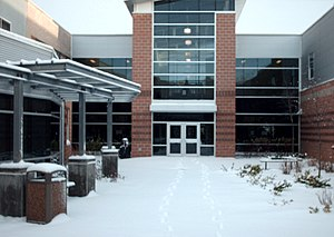 North Nova Education Centre - NNEC Central Courtyard in Winter