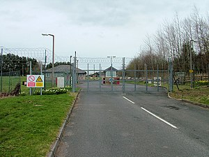 Otterburn Training Area - The southern entrance to Otterburn MOD camp