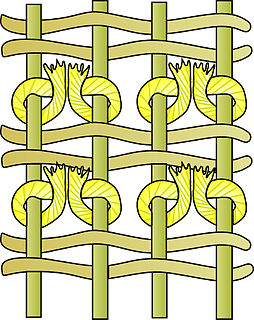 Pile (textile) upright loops, tufts, or strands of yarn extending from the ground of a fabric