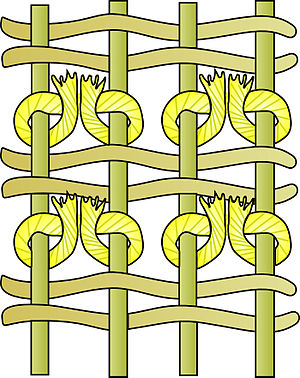 Warp and weft - Ghiordes knot