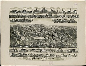 Easton, Massachusetts - North Easton in 1891