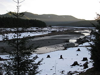 Oregon Route 22 - North Santiam River near Detroit as seen from OR 22.