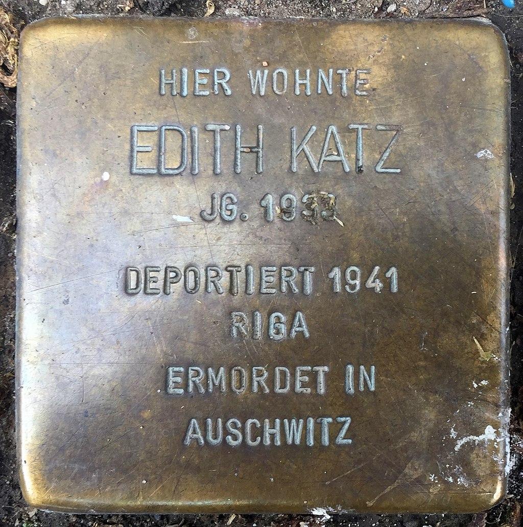 Northeim Stolperstein Edith Katz.jpg