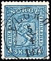 Norway 1868 4sk used FLORØ.jpg