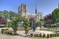 Notre-Dame de Paris - Square René Viviani-Montebello, Paris April 23, 2011.jpg