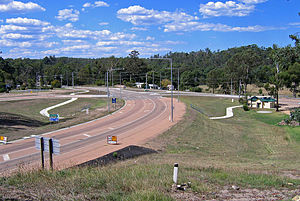 Nowa Nowa, Victoria - Central part of town on the Princes Highway
