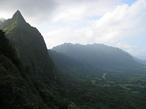 Battle of Nuʻuanu - Windward side of the Pali