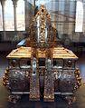 O. tischmacher, urna processionale di s. vigilio, bolzano 1632, con fregi e mitria di g.i. pruchmayer, trento 1760 ca., argento smalti, pietre, dal duomo di tn 01.jpg