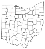 Location of McComb, Ohio