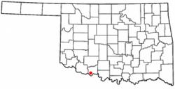 Location of Randlett, Oklahoma