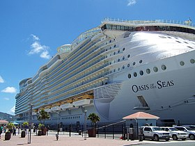 Oasis of the Seas docked at St. Thomas pier.jpg