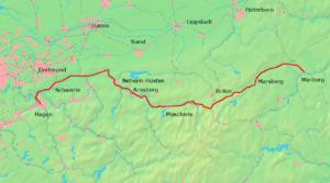 Upper Ruhr Valley Railway - Image: Obere Ruhrtalbahn 01