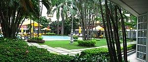 Grand Hotel (Kolkata) - The interior courtyard.