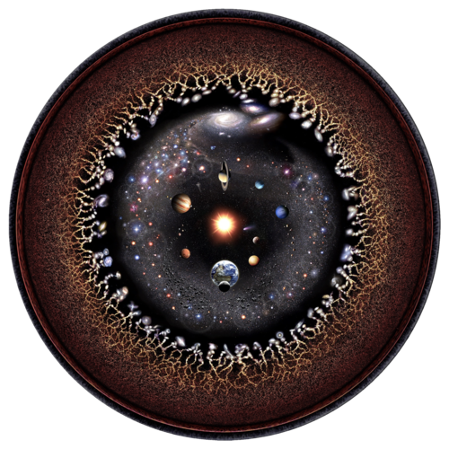 hypothetic drawing of the observable universe