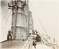 Officer standing on the navigation bridge, looking aft (8891974290).jpg
