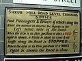 Old level crossing sign at NRM York - DSC07819.JPG