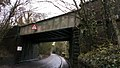 Old railway bridge near Keele railway station, tracks are still in situ but out of use..jpg
