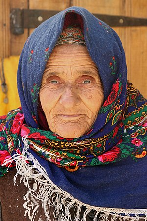 Tat people (Caucasus) - An old Tat woman in Lahic